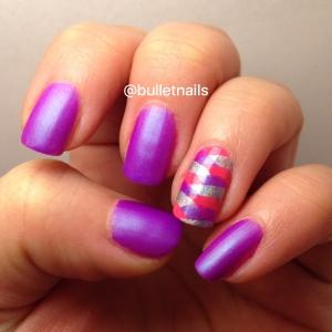 purple fishtail