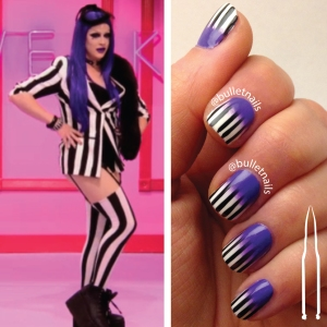 rupaul's drag race S08E01 | laila mcqueen entrance outfit inspired mani