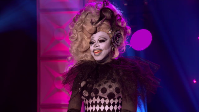 rupaul's drag race S08E07 | bob the drag queen black and white realness runway inspired mani