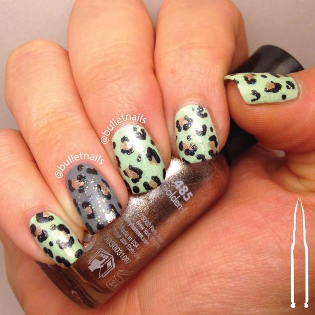40gnai - mint green + leopard   @bulletnails