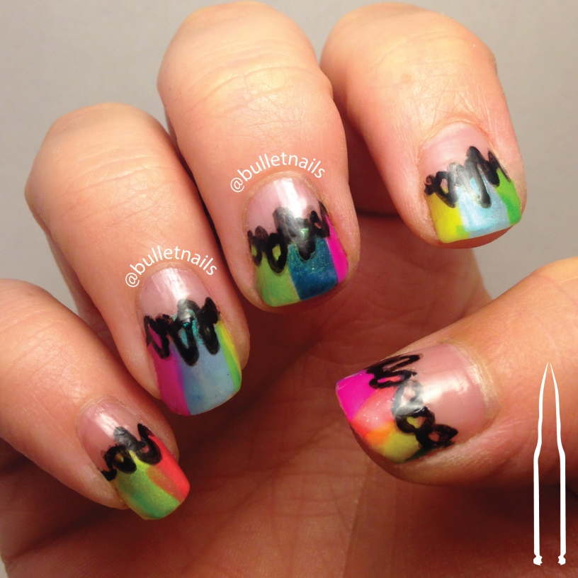 Great Nail Art Ideas – nude & color + 1/2 & 1/2 | bulletnails