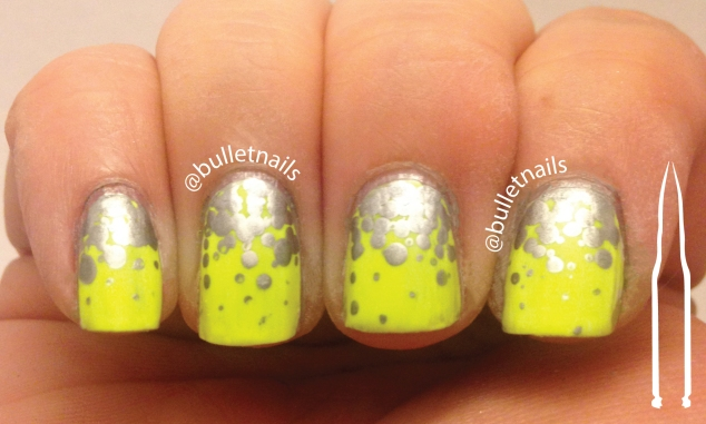 40gnai - yellow & silver + gradient | @bulletnails