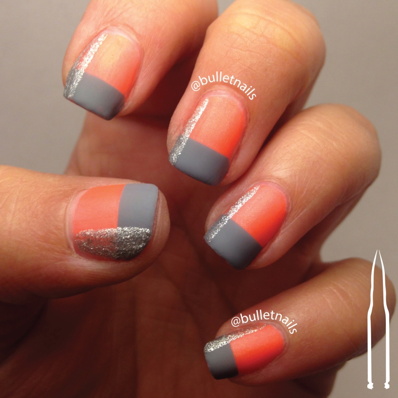 40gnai - orange + geometric | @bulletnails