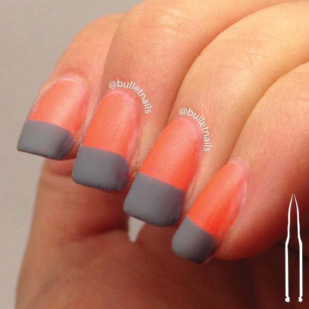 40gnai - orange + geometric | @bulletnails