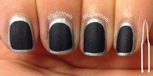 26gnai - blue and silver | @bulletnails