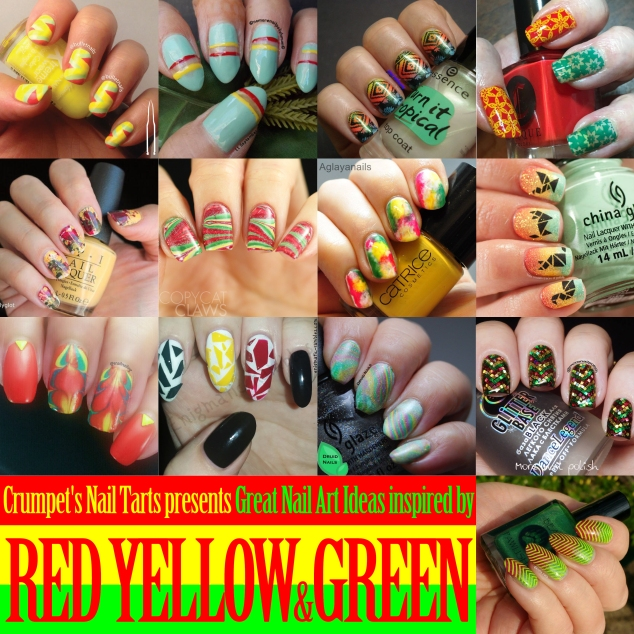 40gnai - yellow, red & green | @bulletnails