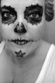 galaxy dia de los muertos makeup | @bulletnails