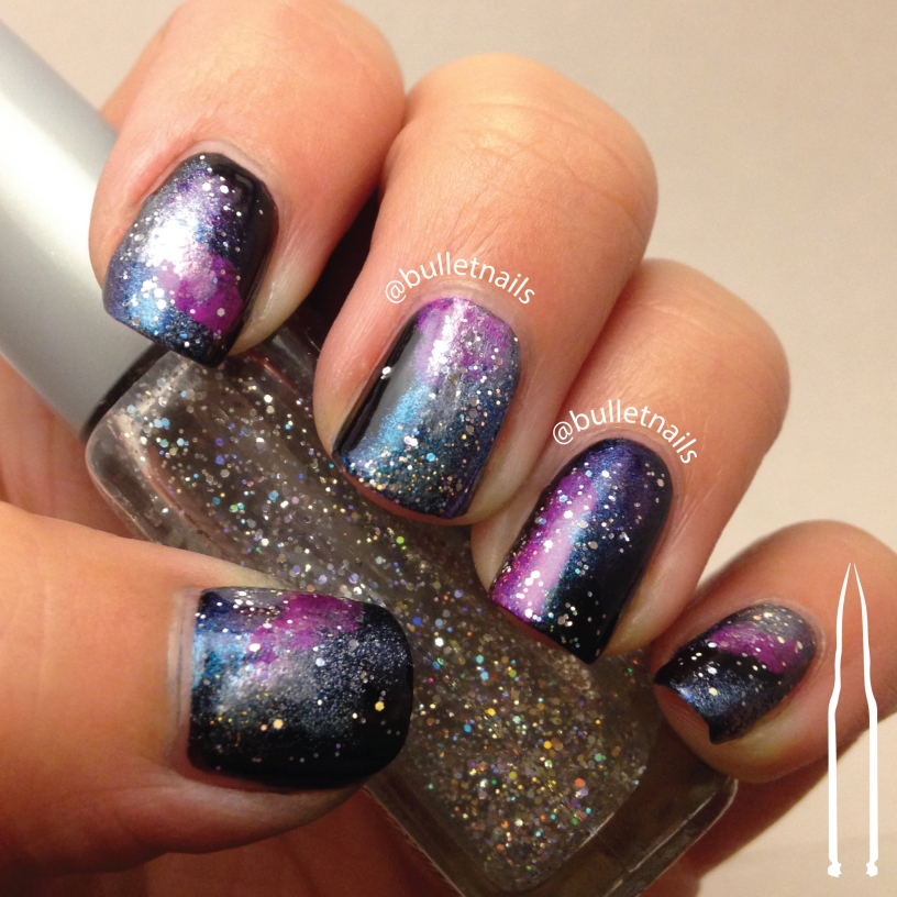 galaxy nails | @bulletnails