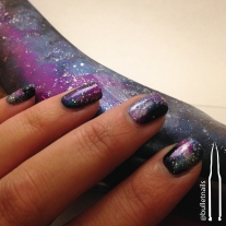 galaxy halloween nails | @bulletnails