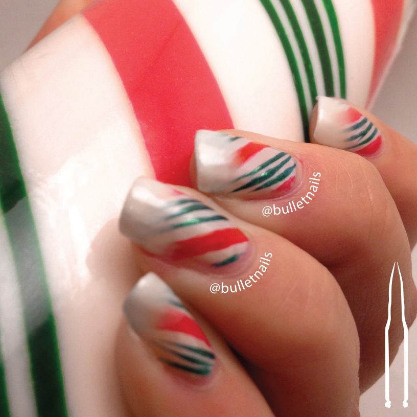 ncu - candy cane | @bulletnails