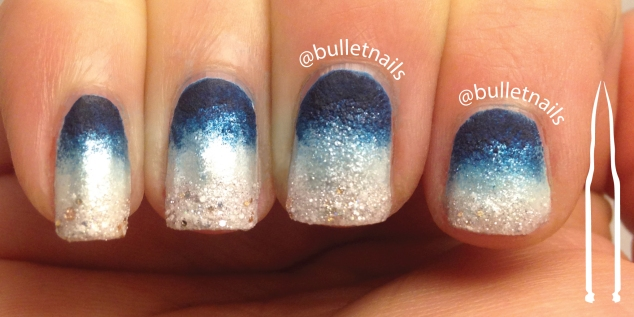 ncu - blue & white | @bulletnails