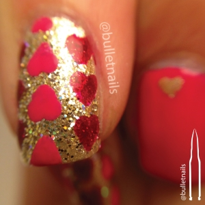 26gnai - red & pink | @bulletnails