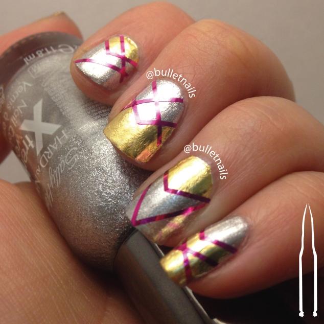 ncu - gold & silver   @bulletnails