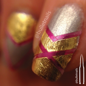 ncu - gold & silver | @bulletnails