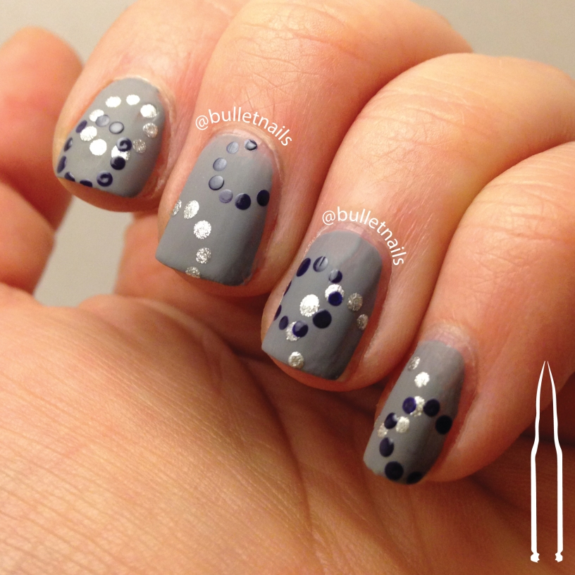 26gnai - blue floral | @bulletnails