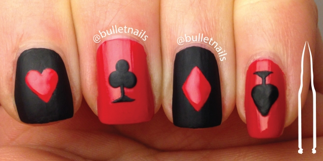 ncu - red & black | @bulletnails
