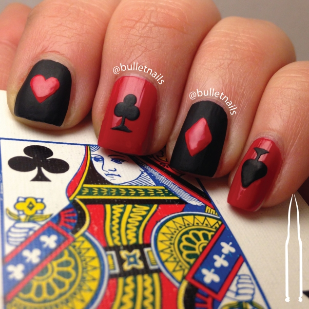 ncu - red & black | @bulletnails