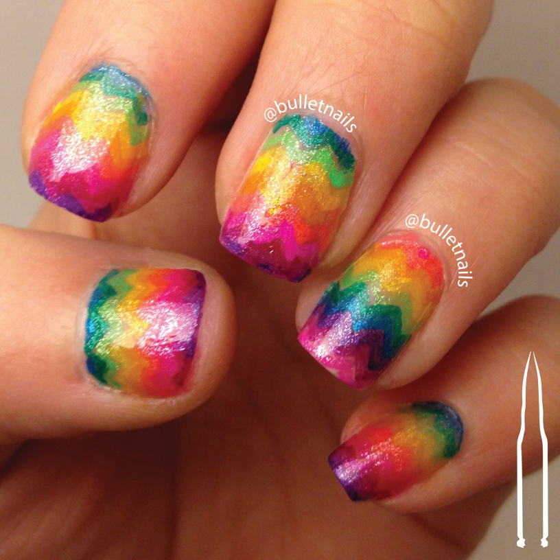 ncu - rainbow | @bulletnails