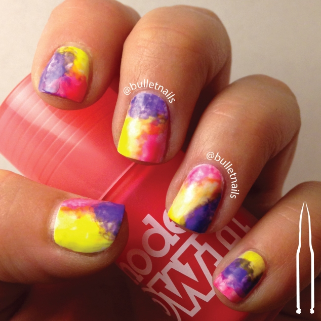 ncu - watercolor | @bulletnails