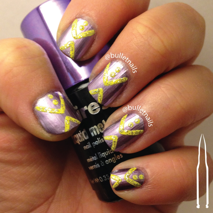26gnai - yellow + 1 bold color | @bulletnails
